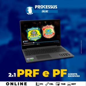 2 x 1 - PRF e Policia Federal (Agente e Escrivão) - Curso online